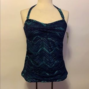 NWT Island Escape Blue & Teal Crocheted Swimsuit